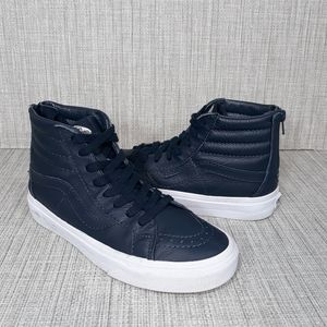 Vans High Top Leather Skateboard Shoes 7
